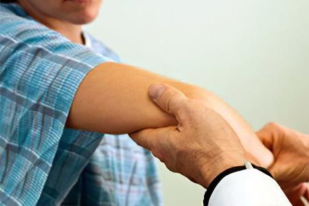 Артрит локтевого сустава симптомы с фото первая помощь при растяжении связок, суставах, переломах