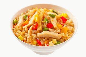 Рисовая диета с курицей и овощами